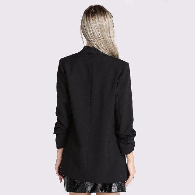 Fashion Autumn Women Blazers and Jackets Work Office Lady Suit Slim White Black None Button Business female blazer Coat Zevrez 3