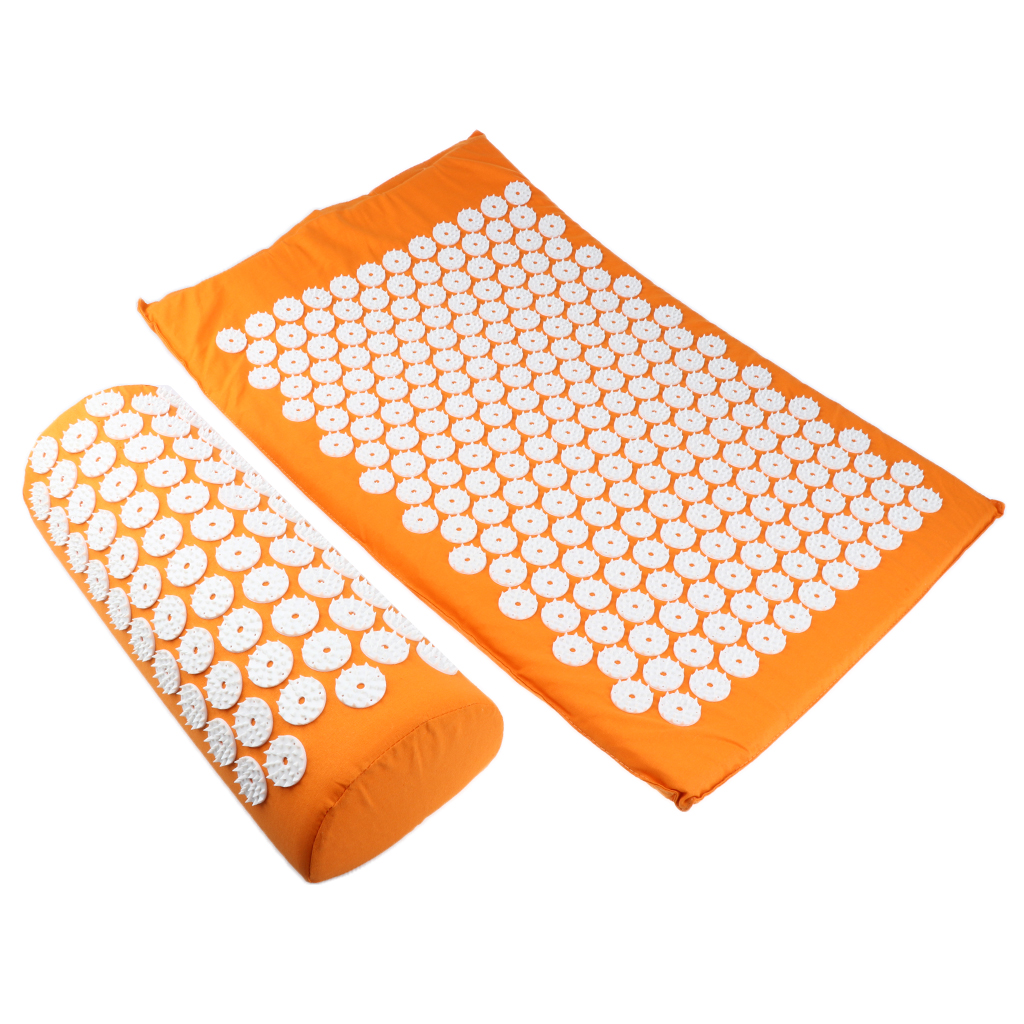 1pcs Acupressure Mat Pillow Neck Full Body Muscle Stress Therapy Massager Set in Massage Relaxation from Beauty Health