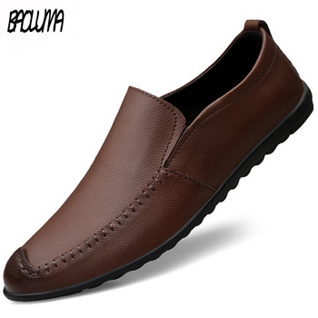 Men Shoes Leather Comfortable Fashion Men Casual Shoes Sport Footwear Chaussures Flats for Men Slip on Lazy Shoes Zapatos Hombre
