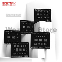 Red de acero negra de reparación Universal Wozniak para IPHONE 5G/5S/6G/6 S/7G/8G agujero cuadrado de precisión de la banda base de la comunicación