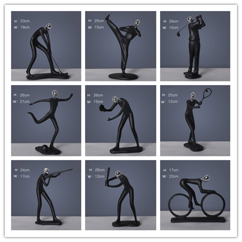 Modern Living Room Minimalist Decoration Home Decoration Accessories Modern Resin Statues & Sculptures Europe Style Ornaments