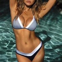Женский пуш-ап микро бикини, летняя одежда для плавания, купальник, Женский бандажный купальник, бразильский комплект бикини, купальник на бретельках