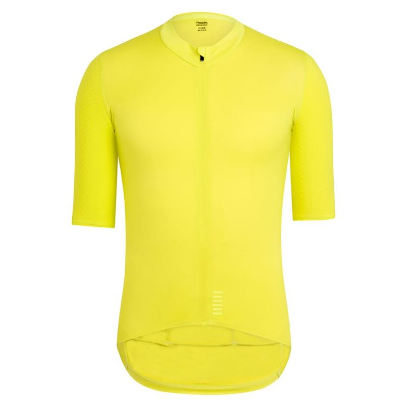 2018 Pro équipe séchage rapide cyclisme maillot été à manches courtes hommes vtt vélo vêtements de cyclisme jaune noir vélo maillot ciclismo