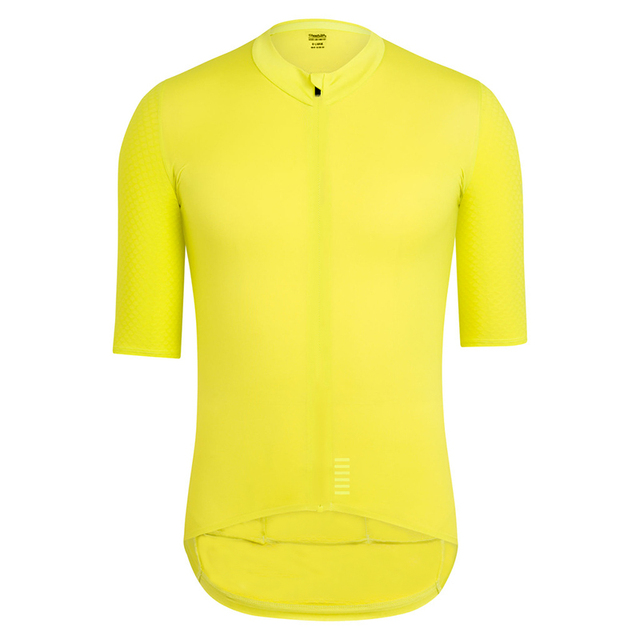 2018 Pro team Quick Dry Cycling Jersey Summer Short Sleeve men s MTB Bike  Cycling Clothing yellow black bycicle maillot ciclismo da0bc936f