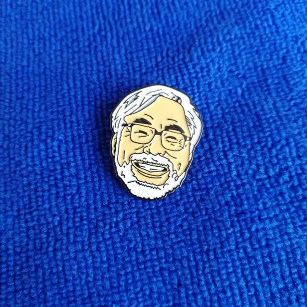 Japoński Hayao miyazaki przypinka dla fanów kreskówek broszki