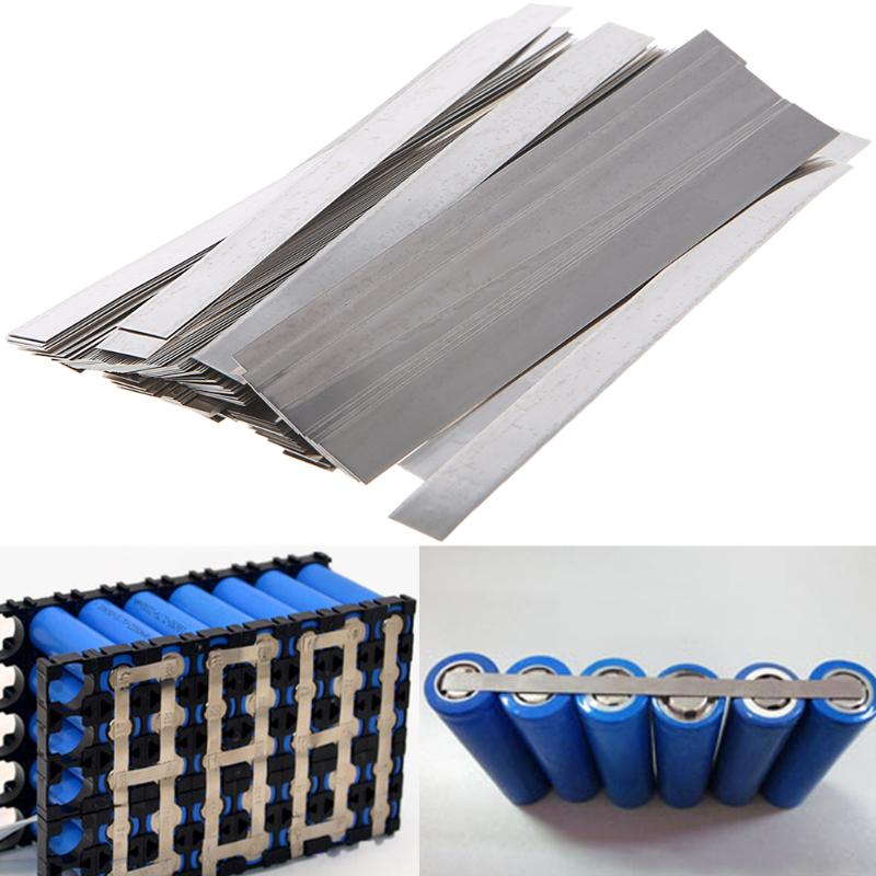 100pcs 0.1mm X 4mm X 100mm 99.96% Pure Nickel Plate Strap Strip Sheets Pure Nickel For Battery Electrode Spot Welding Machine