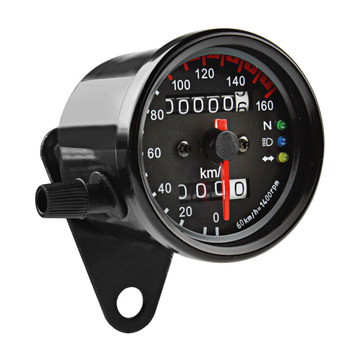 all new universal motorcycle digital motorcycle speedometer retro lcd odometer cafe racer tachometer indicator scooter atv meter Motorcycle Accessories Cafe Racer Speedometer Odometer Gauge LED backlight 0-160KM/H Instrument with LED Indicator Speedo meter