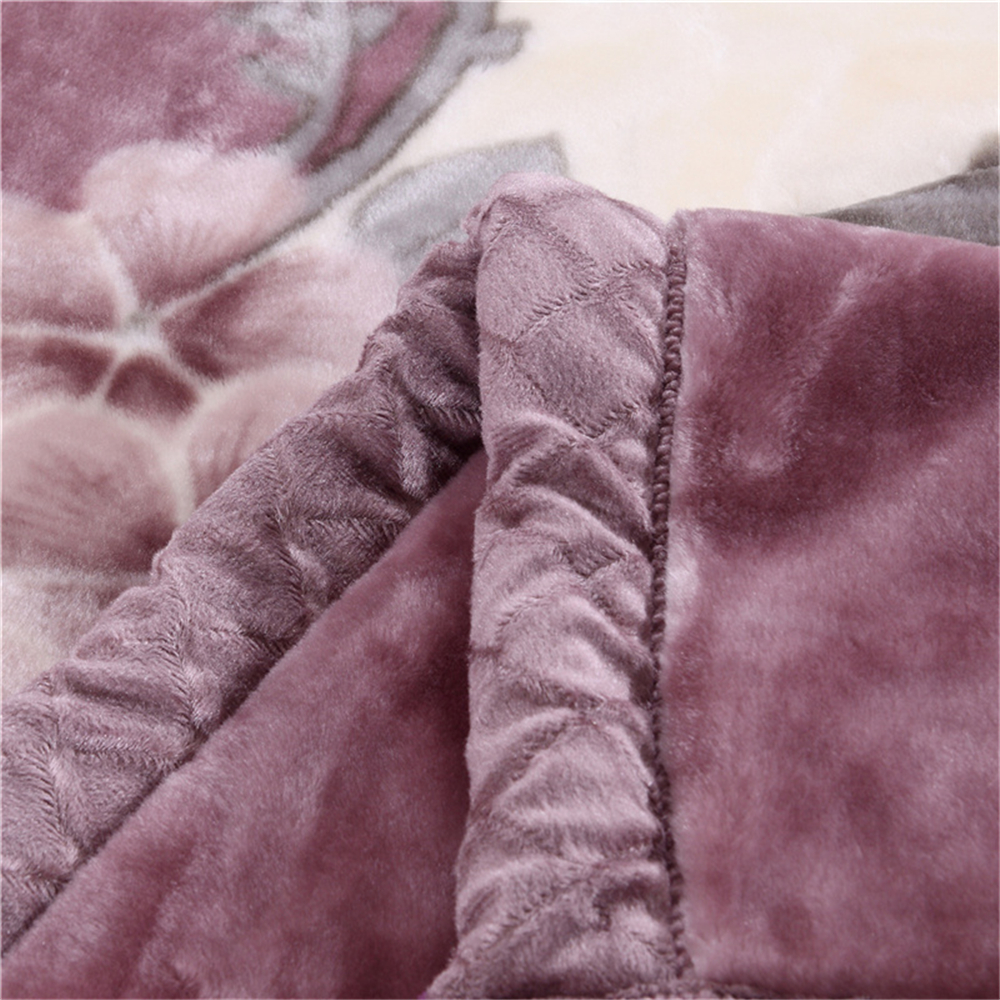 2 6 Kilograms Thick Warm Fluffy Super Soft Raschel Blankets Double Layer Winter Mink Throw Fat Quilts Single Double Size Blanket in Blankets from Home Garden