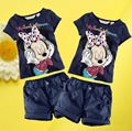 MWT Baby Kids Boys Girls Minnie Mouse Tops T-Shirt + Shorts Outfits Set 1-6Y wn#