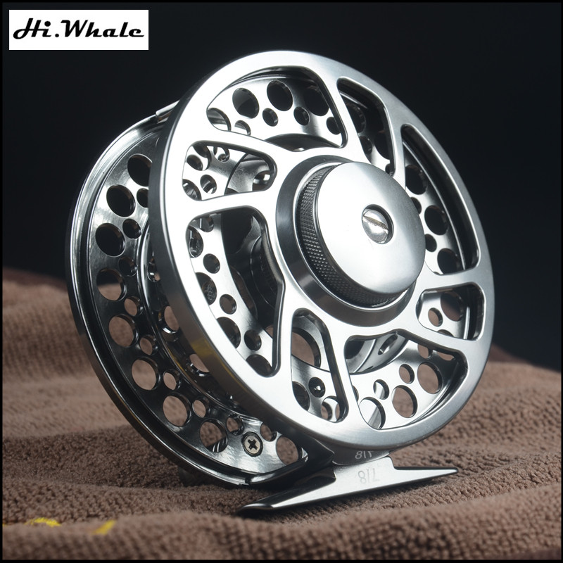 ФОТО Hi.Whale NEW 90 mm Fly Fishing wheel 7/8WT Fly Reel Machined Aluminium Micro Adjusting Drag Trout Fishing reel