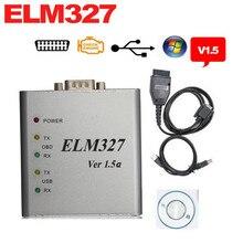 Лучшее Качество ELM327 Металла Алюминиевая OBD2 Автоматический Диагностический Инструмент ELM 327 USB Металл Интерфейс Code Reader Сканер V1.5/V1.5a