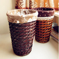 2016 Eco friendly Baskets Picnic Basket Dirty Clothes Wicker Storage Laundry Basket Round Shape Large Capacity