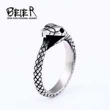 BEIER New arrival Antique Finger Snake Rings With Women High Quality 316L Stainless Steel Animal Unique Cool Jewelry BR8-655(China)