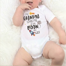 2019 Toddler Newborn Bodysuit Romper Letter Printed Kid Infant Playsuit Cotton White Boy Girl Outfit Clothes