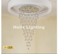 New Arrival LED Crystal Living Room Crystal Chandeliers Lighting Fixture for Staircase Stair Lamp Showcase Bedroom Pendant Lamp