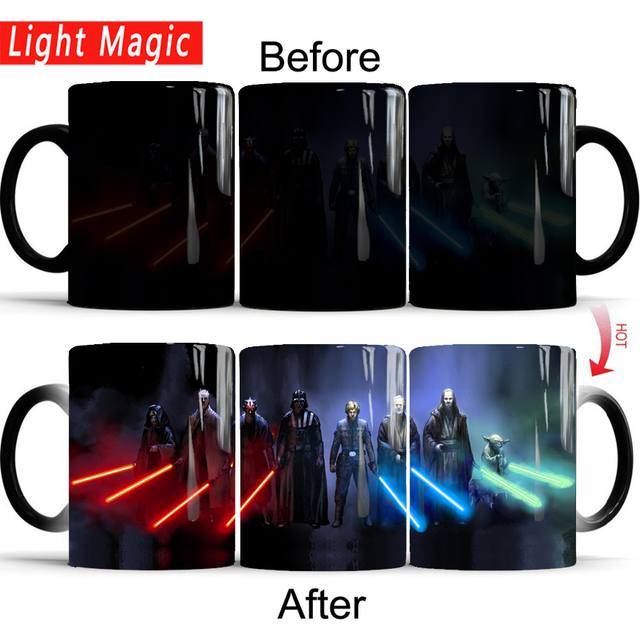 star wars mugs coffee mug friend gifts novelty heat reveal cup heat changing color magic mug tea cups