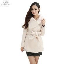 Women Cashmere Coat New 2016 Casacos Femininos Winter Slim Woolen Jackets Female Autumn Overcoat Plus Size