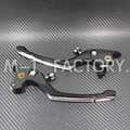 New Contrast Cut Regulator Clutch & Brake Lever Set For Harley Touring Road King Softail 08-16