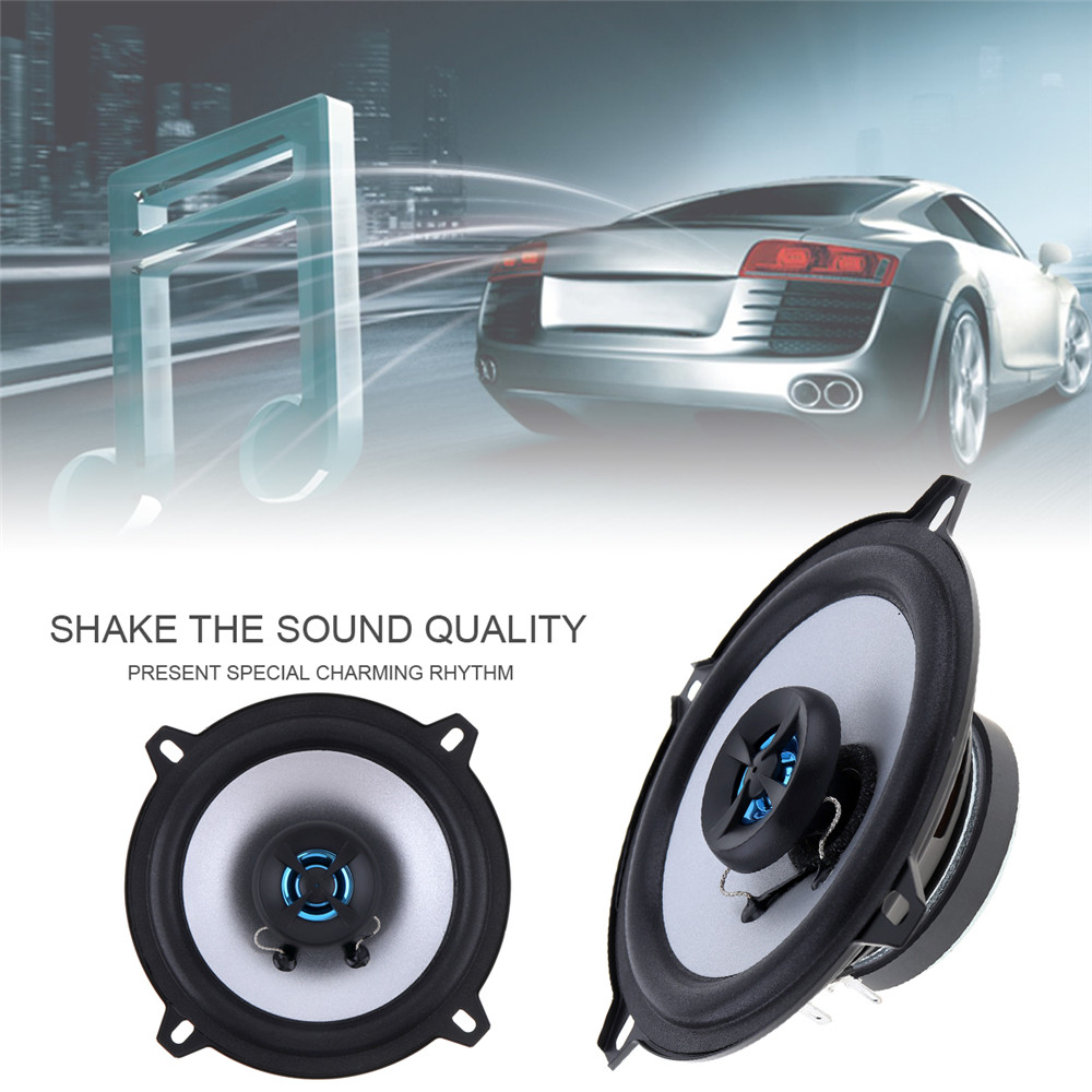 1 Pair 5 Inch 2 Way 80W Coaxial Car Speaker Automobile Automotive Loudspeaker 4OHM Auto Stereo Audio Loud Speaker candy silicone tpu gel soft case for samsung galaxy tab 2 7 0 7 p3100 p3110 tablet rubber material shockproof back cover s3030d