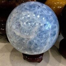 Blue crystal ball ornaments Natural blue rough stone polishing