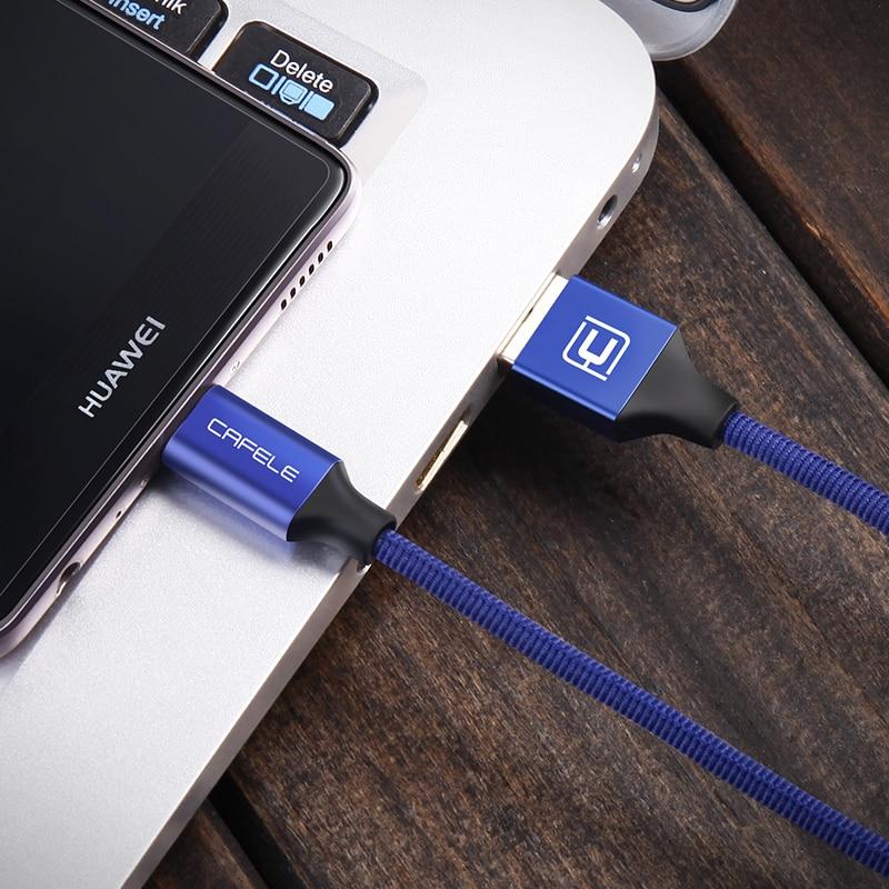 CAFELE Original Type C USB-kabel för Huawei Xiaomi One Plus - Reservdelar och tillbehör för mobiltelefoner - Foto 5
