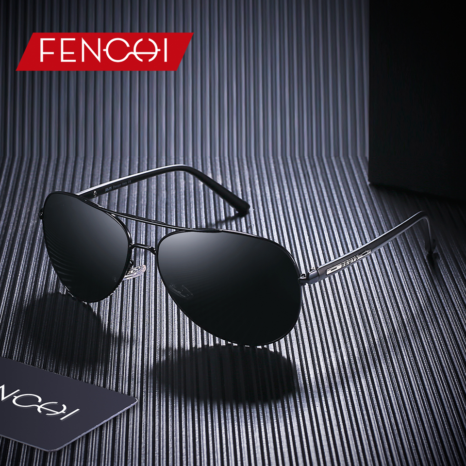 FENCHI Polarized Sunglasses Men Women Metal Frame TR90 Brand Designer Pilot Driving light Sunglasses Night Vision UV400 Glasses