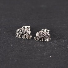 contracted hollow-out decorative pattern restoring ancient ways ms elephant stud earrings personality New Year gift vintage hollow out pattern spiral stud earrings