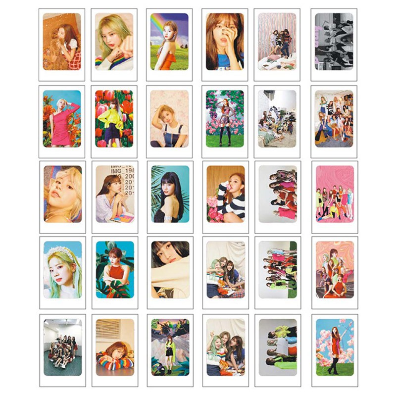 30Pcs/Set TWICE Fancy You Album  Self Made LOMO Card Photocard Fans Collective Photo Cards Stationery Set