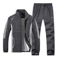 2018 New Fashion Men Sportswear 2 Piece Set Spring Autumn Sporting Suit Jacket Pant Men Tracksuit
