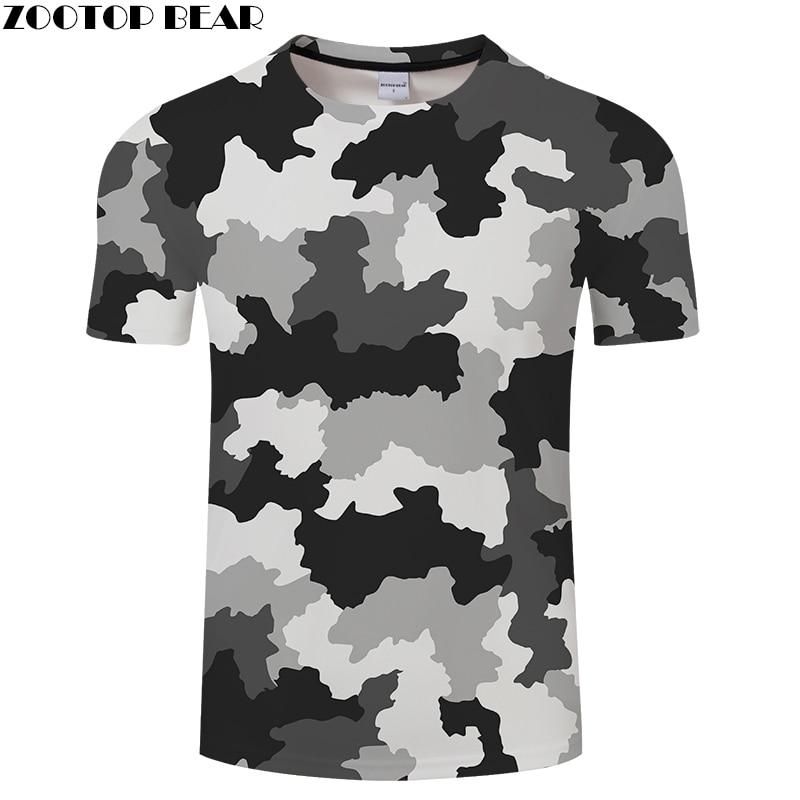 Hit Color Camo 3D Print T shirt Men Women tshirt Summer Casual Short Sleeve T-Shirt Groot Top&Tee Streatwear DropShip ZOOTOPBEAR
