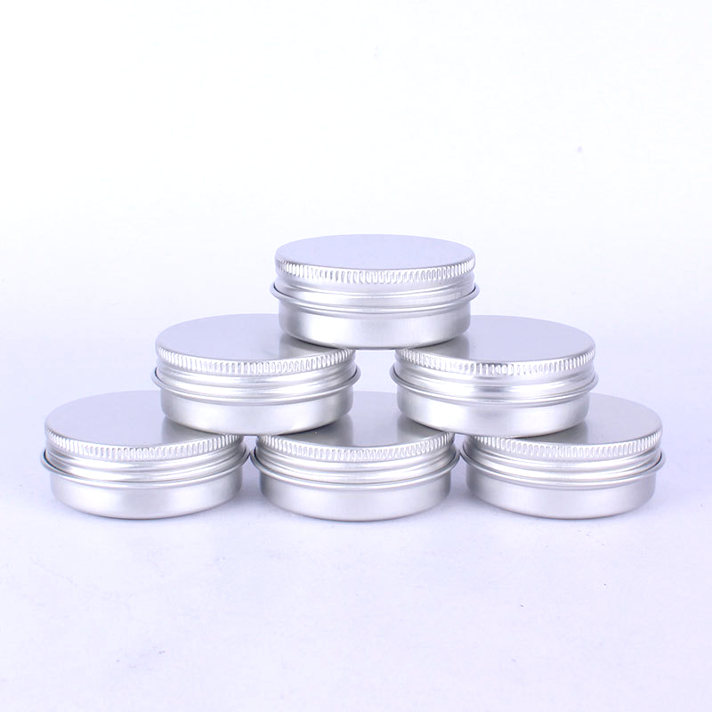 Empty Cosmetic Tin Can Lip Balm Candle Jar Aluminium Screw Lid Tins Rotating Makeup Organizer Pill Tin Boxes Small Exquisite cosmetics
