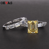 Charm Engagement Ring set for women Luxury S925 Silver Jewelry 5 Colors Charm finger rings Brand bague femme