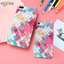 KISSCASE Pour iPhone 6 6 s 7 Plus Cas Échelles Squama Dur PC Cas de Téléphone Pour iPhone X XS Max xr Capa Mobile Téléphone Accessoires Funda