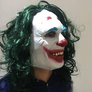 Image 3 - Movie Joker 2019 Cosplay Mask Batman The Dark Knight Clown Mask with Hair Wig Halloween Latex Mask