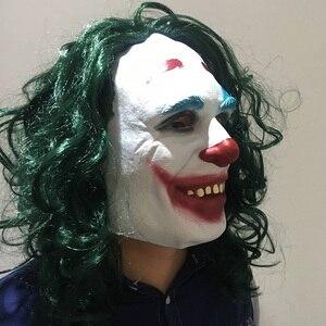 Image 3 - Movie Joker 2019 Cosplay Masker Batman The Dark Knight Clown Masker met Haar Pruik Halloween Latex Masker