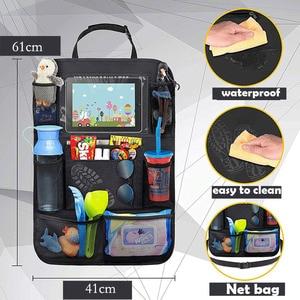 Image 4 - Universal Auto Sitz Zurück Organizer Multi Tasche Lagerung Tasche Tablet Halter Autos Interior Zubehör Verstauen Aufräumen