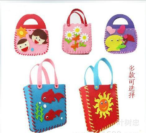 Diy Felt Handbag Craft Kits Fabric Crafts Children Bag