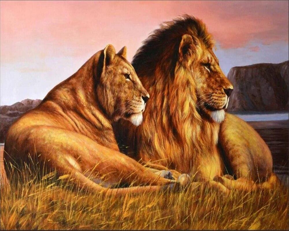 Beibehang Custom Wallpaper Hd African Savanna Lion Oil Painting Background Living Room Bedroom Tv Background Wall 3d Wallpaper Custom Wallpaper 3d Wallpaperwallpapers Hd Aliexpress