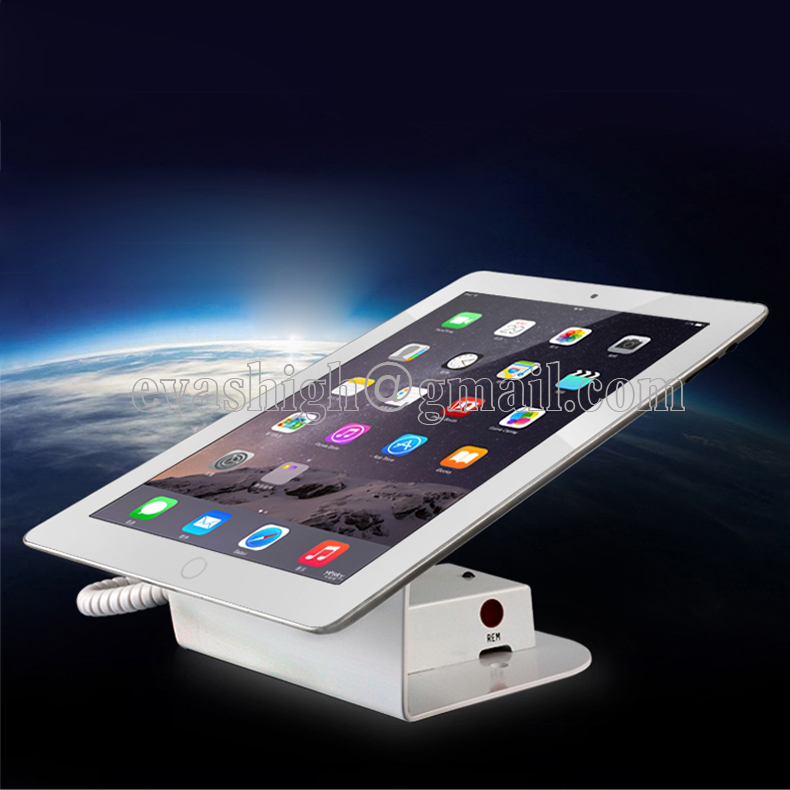 10xTablet security stand ipad anti theft display holder appple tablet alarm base retail samsung tablet pad with charging cable  phone security stand tablet display holder ipad burglar alarm iphone retail alarm cellphone anti theft device for appple shop