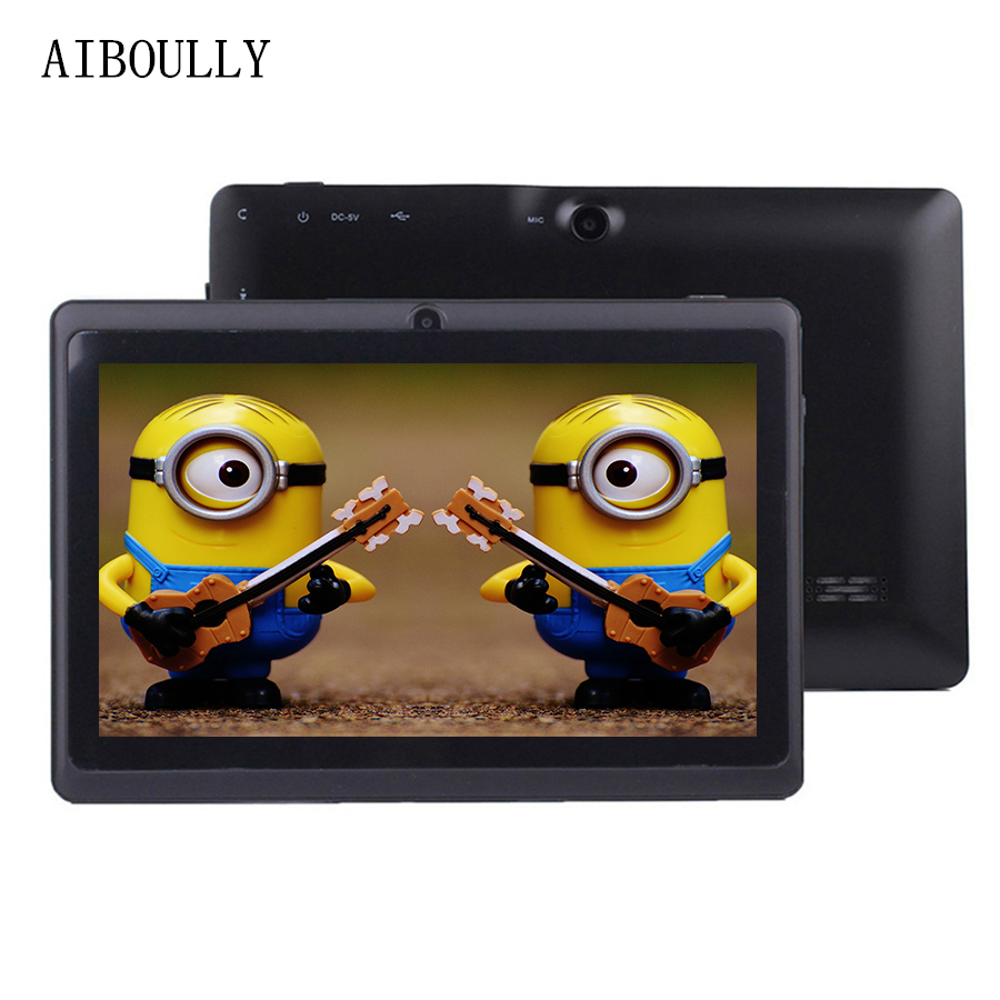 AIBOULLY 7 Inch Kids Tablet Pc Android 6 Original WiFi Tablets Bluetooth Quad Core 1GB RAM Baby Drawing Tab With Case 8 9.7 10''