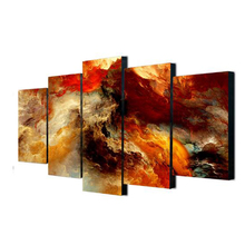Modern 5 Pieces Mountains Abstract Painting Canvas Art  framework ready to hang