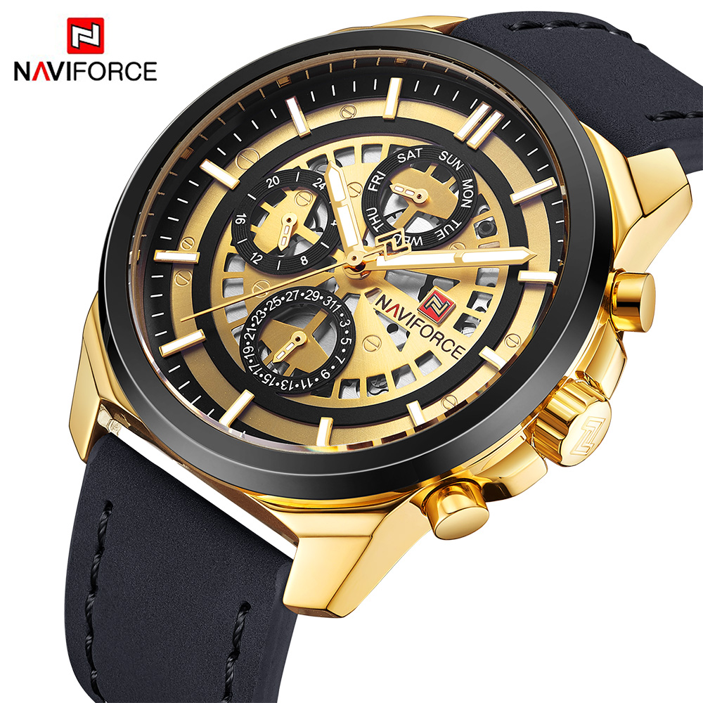 Luxury Brand NAVIFORCE Men Quartz Wrist watches Men's Quartz 24 hour Date Clock Male Sports Waterproof Watch Relogio Masculino new naviforce men watch top brand luxury men s rose gold quartz wrist watches male 24 hour luminous date clock relogio masculino