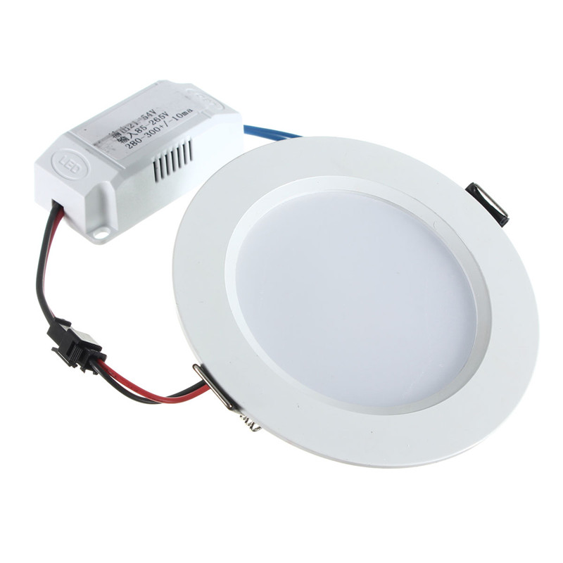 Smuxi 7W LED Panel Light Round Panel LED Recessed Ceiling Lamp Downlight Kitchen AC85-265V 5w 10w rgb rgbw led ceiling panel light ac85 265v embedded recessed downlight bulb changable with 24 key remote control
