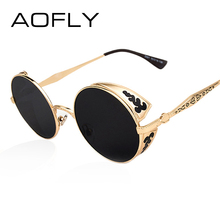 AOFLY Steampunk Vintage Sunglass