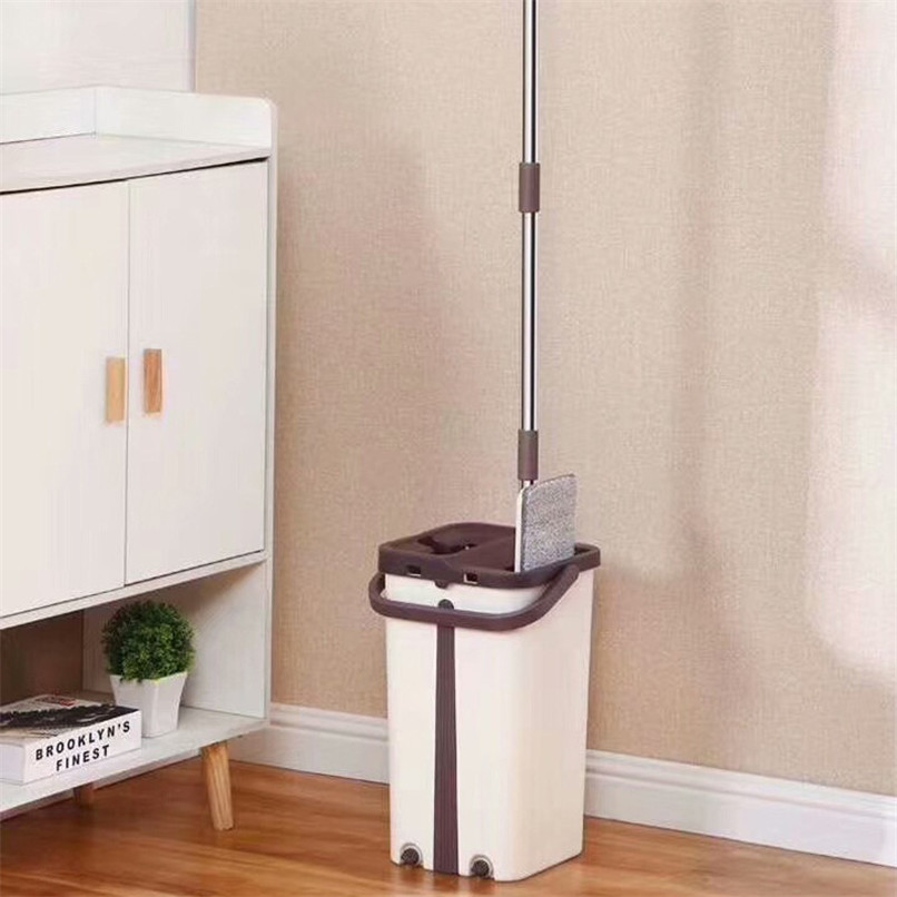 Automatic Spin Mop Bucket 360 Degree Magic Avoid Hand Washing Microfiber Clean Cloth Home Kitchen Wooden Floor Mop Clean Tools in Mops from Home Garden