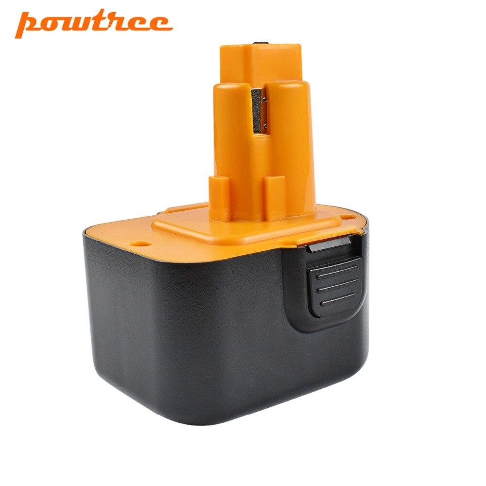 Powtree 2PCS 12V 2000mAh For Dewalt DC9071 Ni MH Replacement Battery For DW9072 DW9071 DE9037 DE9071 DE9072 DE9074 DE9075 1 in Replacement Batteries from Consumer Electronics