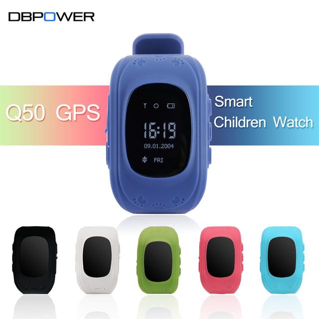 Dbpower Q50 GPS GSM GPRS SOS Смарт-часы детей OLED/ЖК-дисплей вызова Расположение Finder приложение трекер анти-потерянный smartWatch для IOS/Android