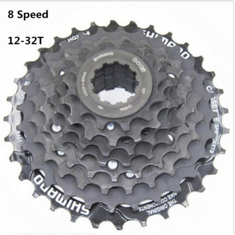 Bicycle Freewheel CS-HG200-8 Cassette 12-32T MTB HG//IG 6//7//8-Speed New