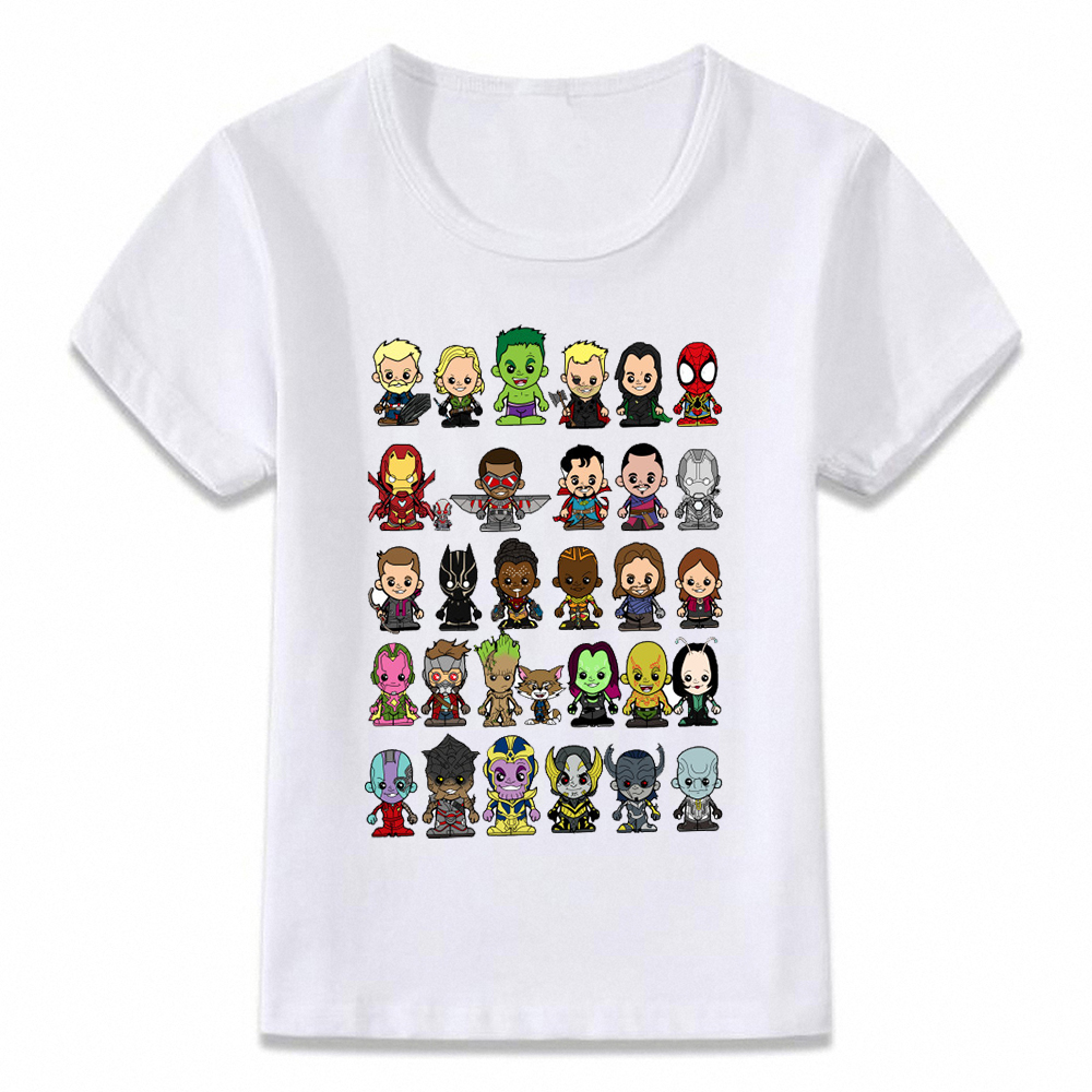 Kids Clothes T Shirt Little Avengers Infinity War Thanos Boys And Girls Toddler Shirts Tee Oal250