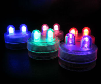 Factory Direct Deal!!!  100 pcs /lot Super Bright  Submersible LED Light Floralyte Waterproof LED Candle Light For Wedding